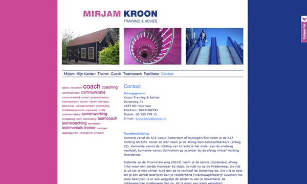 website Mirjam Kroon Training & Advies